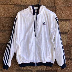 Vintage men's Adidas Windbreaker Hooded Jacket